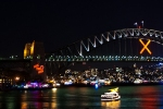 Festliche Illumination an der Harbour Bridge