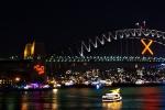 Festliche Illumination an der Harbour Bridge