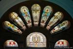 Bemalte Fenster mit der Darstellung der alten Wappen Sydneys, Queen Victoria Building