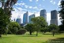 Blick vom Botanischen Garten auf die Skyline - Sydney