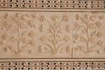 Wundervolle Blumenreliefs in Marmor gemeißelt - Taj Mahal
