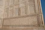 Überall kunstvolle Steinmetzarbeiten - Taj Mahal
