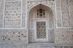 Kunstvolle Pietra dura-Arbeiten am Taj Mahal