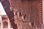 Beeindruckende Handwerkskunst am Jahangiri Mahal - Red Fort