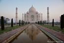 Morgenstimmung am Taj Mahal