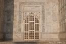 Kunstvolle Marmorarbeiten mit Koranversen auf den Kalligrafischen Tafeln - Taj Mahal