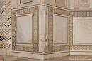 Überall prächtige Steinmetzarbeiten - Taj Mahal