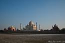 Taj Mahal vom Ufer das Yamuna-Rivers