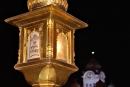Vergoldete Lampe