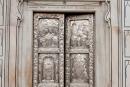 Silberne Tür der Tempels Durgiana Mandir