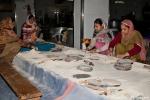 Freiwillige Helfer in der Tempelküche