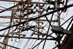 Stromleitungschaos
