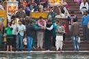 Religiöse Zeremonien am Hari-ki-Pauri-Ghat
