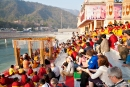 Zeremonie der Ganga Aarti am Parmarth Niketan