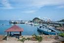 Blick auf den Hafen, bevor wir nach Rinca segeln