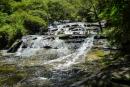 Leura-Kaskaden bei schönem Wetter - Blue Mountains National Park