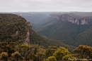 Toller Blick in die Great Dividing Range am Anvil Rock Lookout - Blue Mountains NP