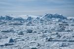 Eisbergstau am Eingang zur Diskobucht