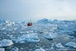 Unzählige Eisberge treiben in der Diskobucht