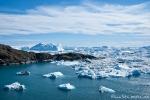 Unzählige Eisberge schwimmen in der Diskobucht vor Ilulissat