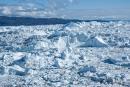 Im Kangia-Fjord treibt das Gletschereis des Sermeq Kujalleq