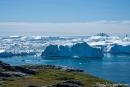Eisbergstau am Kangia-Fjord