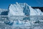 Frischer Abbruch am Eqi-Gletscher