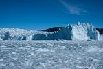 Die Abbruchkante des Eqi-Gletschers