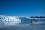Größenvergleich - Eqi-Gletscher