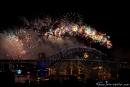 Silvesterfeuerwerk an der Harbour Bridge