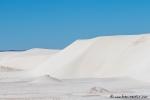 Weißer Quarzsand, so weit das Auge reicht