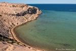 Kristallklares Wasser an der Shark Bay