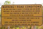 Warnschild am Beginn der Gibb River Road
