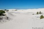 Es gibt auch noch weiße Dünenlandschaft, die vollkommen unberührt ist