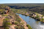 """Blick vom """"Hawks Head"""" auf den Murchison River"""