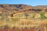 Eisenerz ist für die dunkelrote Farbe dieses Gebirges verantwortlich