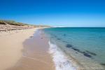 Man hat den Strand für sich allein