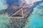 Der Hamelin-Pool mit den Stomatolithen aus der Vogelperspektive
