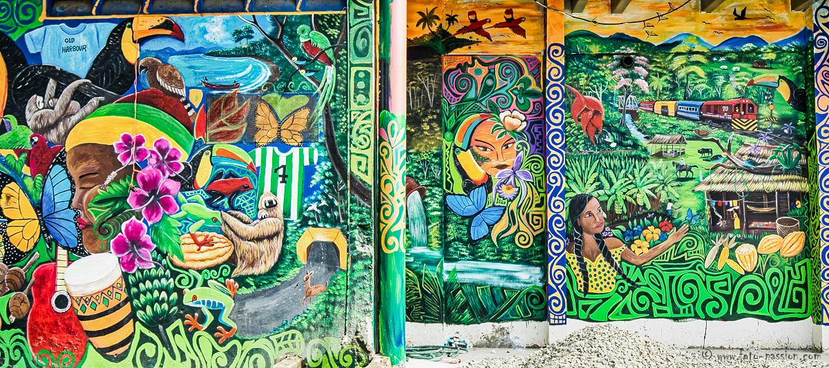Typische Malerei in Puerto Viejo