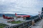 Sehr überschaubarer Flughafen in Kangerlussuaq, aber Grönlands Drehkreuz
