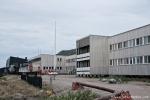 Das Airporthotel in Kangerlussuaq mit Blick auf die Landebahn