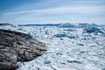 Der Fjord ist voller angestautem Gletschereis - Ilulissat