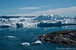 Eisbergstau an der Mündung des Kangia-Fjords