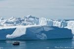 Riesige Eisberge stauen sich vor der Diskobucht