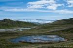 Malerische Landschaft mit Blick auf den Russel-Gletscher