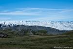 Ein gewaltiger Gletscher und im Vordergrund die Moräne - Russel-Gletscher in Kangerlussuaq