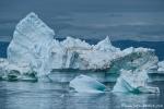 Die Natur formt diese Eisberge