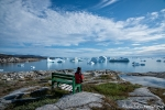 Beeindruckender Blick auf die Eisberge