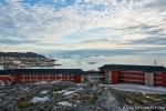 Das Arctic-Hotel mit großartigem Blick auf die Diskobucht und den Ort Ilulissat