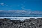 Vom Gletscher transportiertes Geröll, das bei den Gletscherbewegungen mitbewegt und aufgehäuft wird
